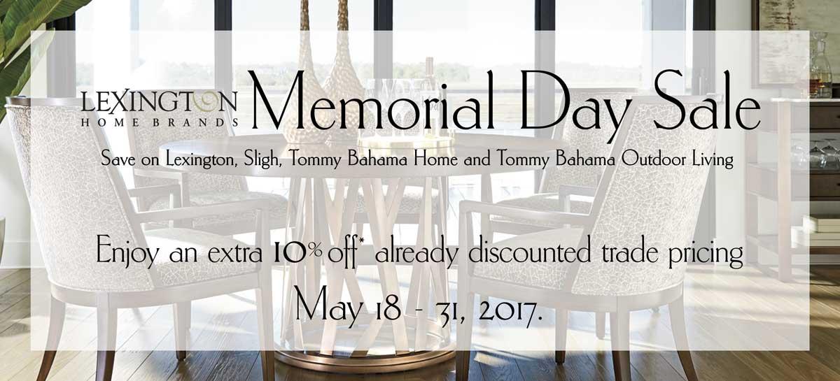 Lexington Home Brands Memorial Day sale at IDS