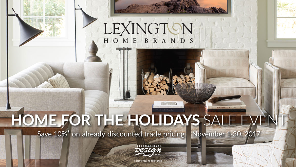 Lexington Home for the Holidays Sale at IDS November 1-30, 2017