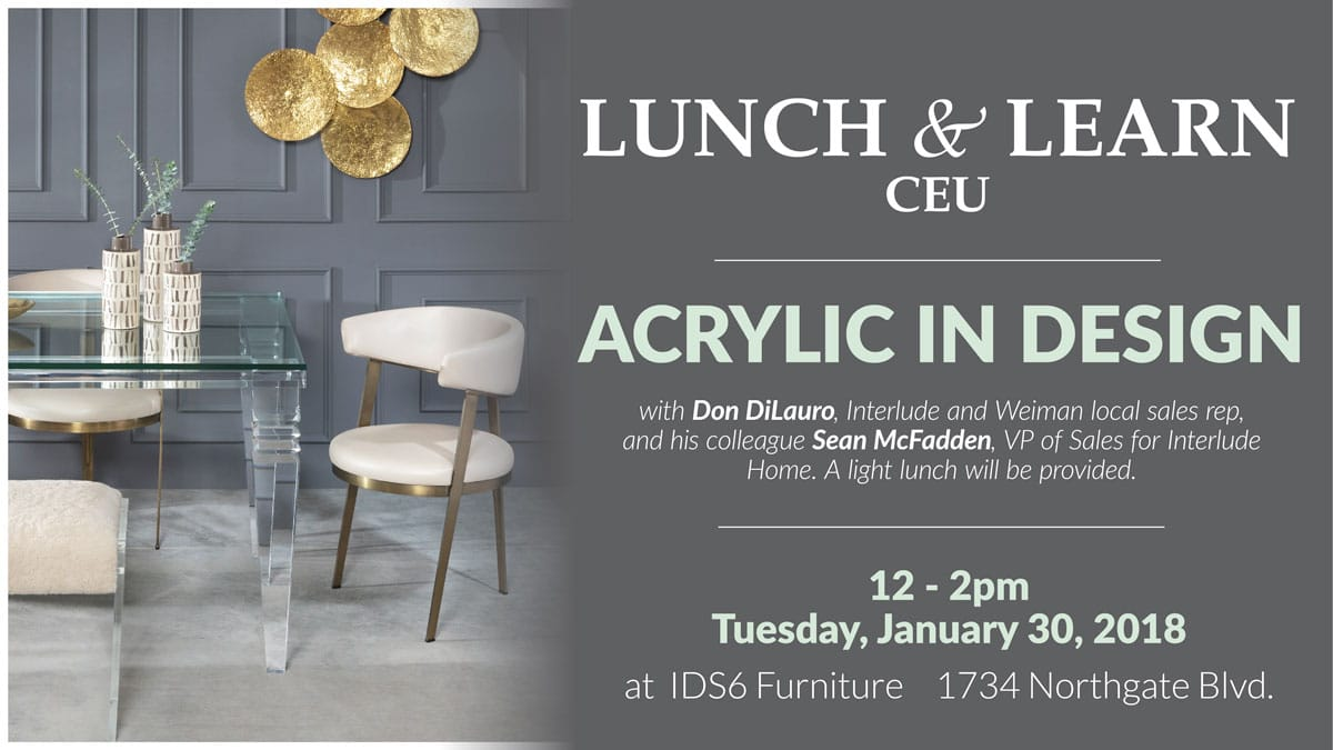 Sarasota - Lunch & Learn CEU: Acrylic In Design