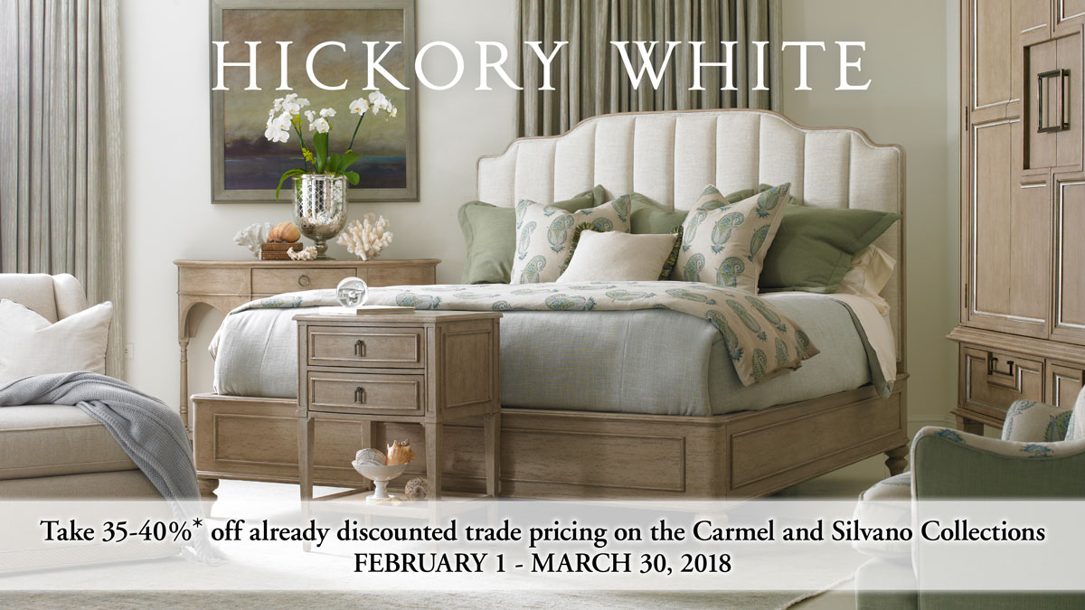 Hickory White Sale on Carmel and Silvano Collections