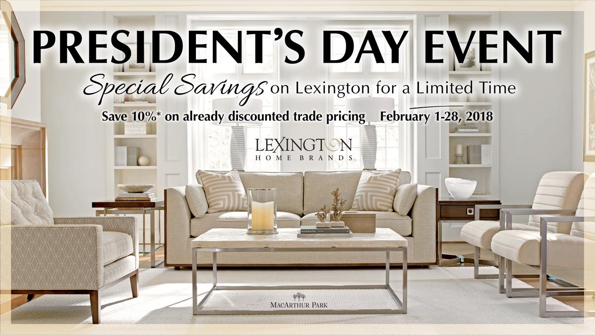 Lexington Presidents' Day Sale