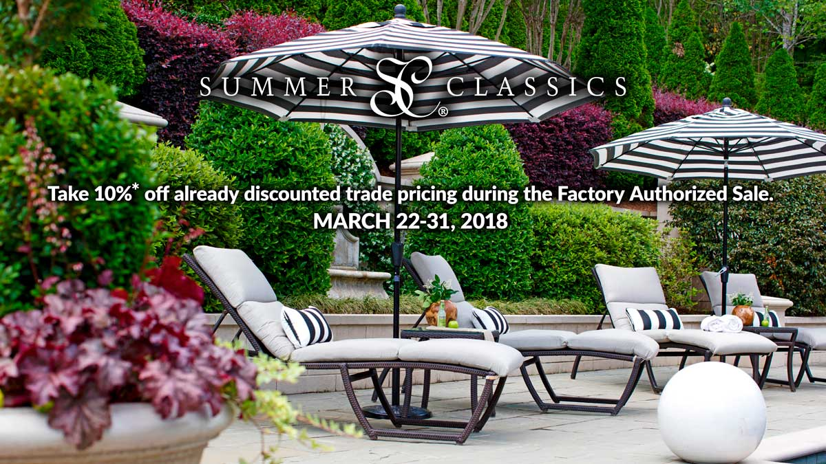 Summer Classics Sale at IDS, March 22-31, 2018