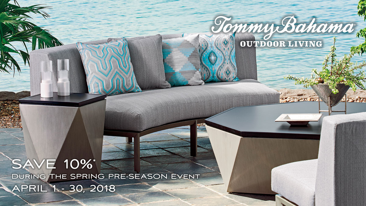 Save on Tommy Bahama Outdoor Living in April at IDS