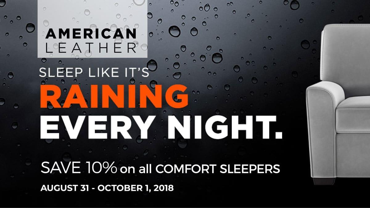 American Leather Comfort Sleeper Sale