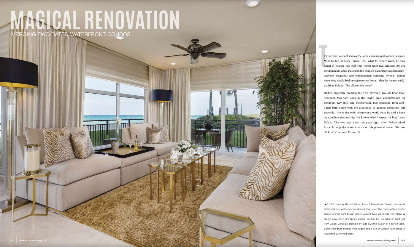 Home & Design Magazine - Magical Renovation - Suncoast Florida - Oct2018