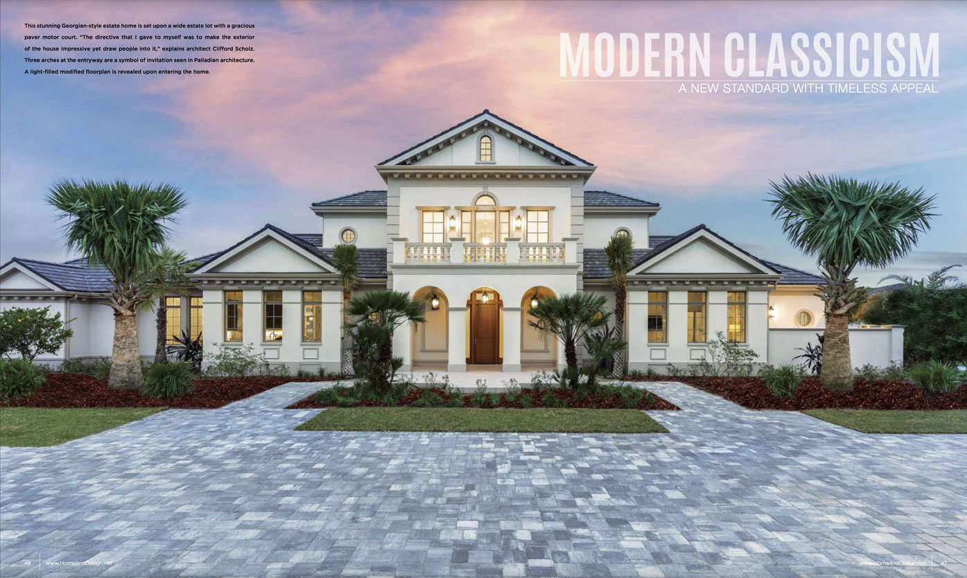 Home & Design Magazine - Modern Classicism - Suncoast Florida - Oct2018