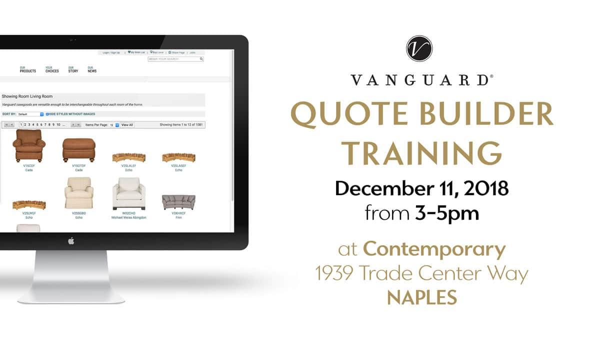 Vanguard Quote Builder Training At IDS3 Naples