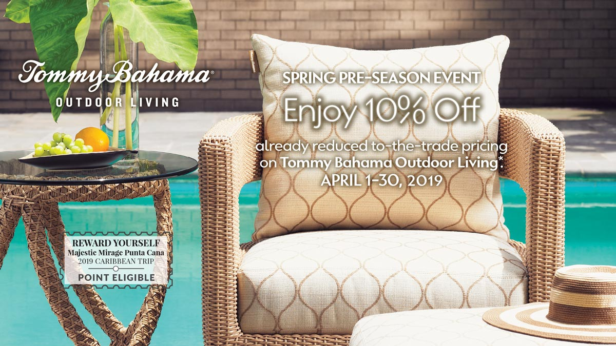 Tommy Bahama Outdoor Living Spring Pre-Season Event at IDS