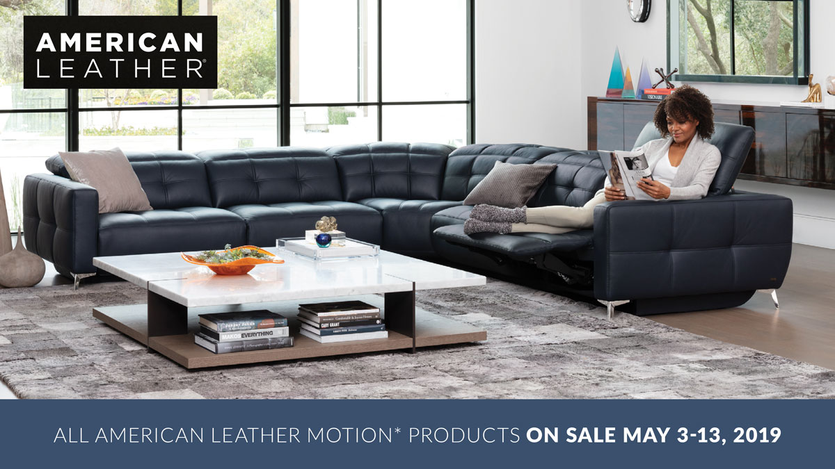 American Leather Motion Products on Sale at IDS: May 3-13, 2019