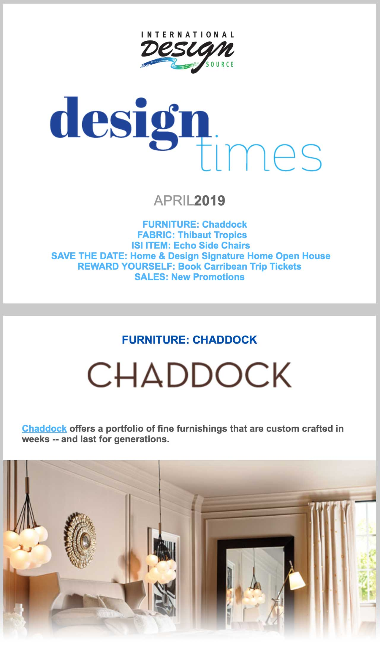 April 2019 - IDS Design Times eNewsletter