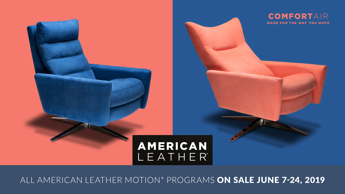 American Leather Motion Programs Sale at IDS, June 7-24, 2019