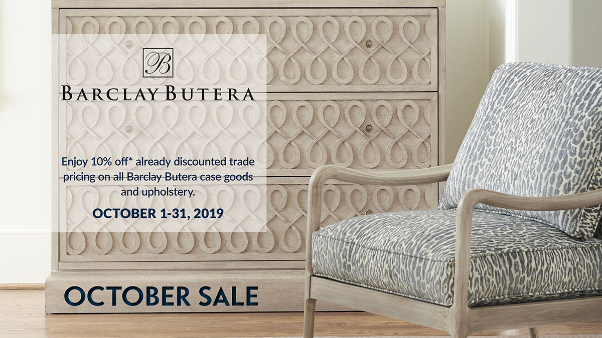 Barclay Butera Sale at IDS - October 1-31, 2019
