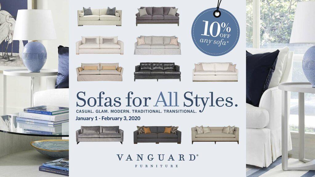 Vanguard Sofa Sale - January 2020